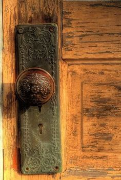 One of my first memories is looking at a sweet door knob like this in my childhood home.