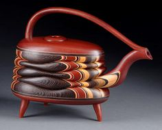 Terry Evans | Teapot with 3 Legs featuring Bloodwood and Wenge