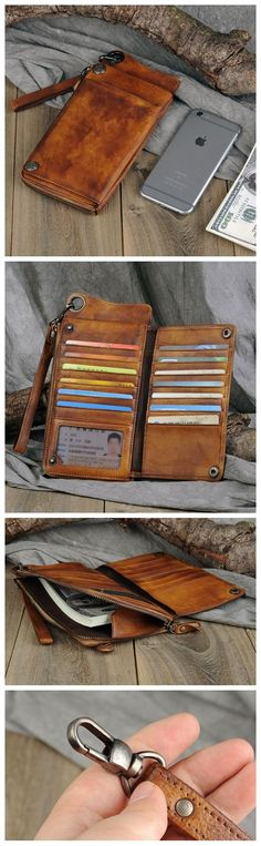 LEATHER WALLETS FOR WOMEN, WOMEN'S WALLET GIFTS FOR MOM,LEATHER CLUTCH WALLET