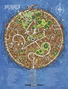 Homebrewing ideas Fantasy Cartography by Sean Macdonald Fantasy City Map, Fantasy Town, Medieval Fantasy, Dark Fantasy, Dark Sun, Rpg Map, Map Layout, Dungeons And Dragons Homebrew, Dungeon Maps
