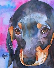 Dachshund Puppy, Watercolor Painting