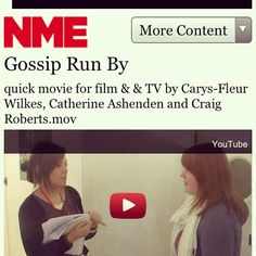 thats right= my short film got posted onto the NME website!!