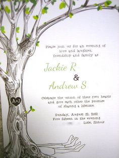 The Giving Tree wedding invitations