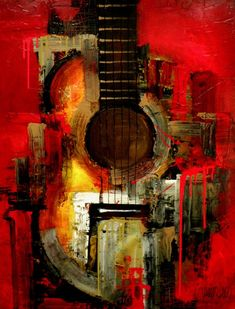 Original Painting – Modern Abstract Art by SLAZO – Made to Order Peinture originale Art abstrait moderne par SLAZO 30 x 40 Modern Art Paintings, Original Paintings, Modern Abstract Art, Landscape Paintings, Pintura Graffiti, Guitar Painting, Painting Art, Painting Abstract, Music Painting