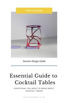 What is a cocktail table, you might ask? Not to be confused with a coffee table or a poseur table, cocktail tables are extremely versatile occasional tables that can be used in any reception room in the home. Coffee Table Styling, Coffee Table Design, Modern Console Tables, Modern Coffee Tables, Coffee Table Inspiration, Interior Design Guide, Hallway Designs, Contemporary Coffee Table, Occasional Tables