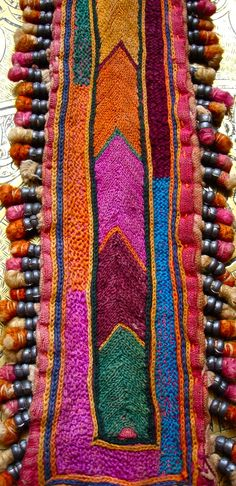 Banjara Indian embroidery patch piece