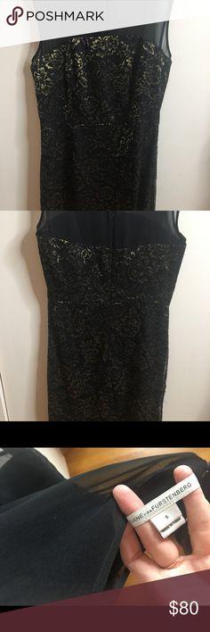 DIANE VON FURSTENBURG - black dress size 6 Been worn twice. In perfect condition. Black slimming dress. Diane Von Furstenberg Dresses Mini
