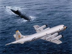 SPECIAL MILITARY AIRCRAFT - NAVY LOCKHEED P-3 ORION - SUBMARINE TRACKING DUTY