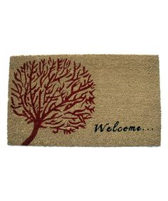 Look at this 'Welcome' Tree of Life Doormat on #zulily today!