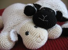 Crochet Lamb,Cute and Cuddly Crochet Critter Pillow,Crochet pattern pdf, Instant Pattern Download Available $3.99