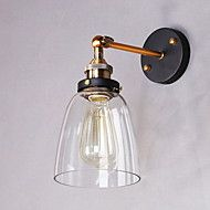 Industrial+Edison+Simplicity+Glass+Wall+Sconce+Metal+Base+Cap+Dining+Room+/+Study+Room/Office+/+Hallway+Wall+Mount+Light+–+CAD+$+209.88