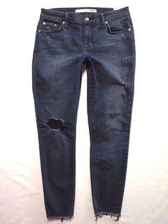 Lovers + Friends size 30 Ricky Skinny cropped Low rise Stretch Womens jeans #LoversFriends #CapriCroppedSlimSkinny