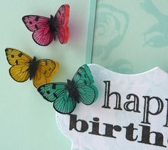 Shrink Plastic Butterflies by Stampin Sue, via Flickr
