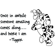 Tigger Quotes pin on for the kitchen Tigger Quotes. Here is Tigger Quotes for you. Tigger Quotes winnie the pooh tigger wall art sticker. Tigger Quotes inspirational quotes from tigger pi. Quotable Quotes, Me Quotes, Funny Quotes, Funny Senior Quotes, Cool Quotes, Cute Qoutes, Citations Film, Winnie The Pooh Quotes, Piglet Quotes