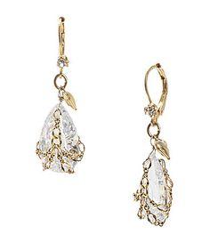 Betsey Johnson Briolette Crystal Drop Earrings #Dillards