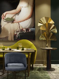 Boutique hotels with personality for a remarkable travel experience Green Colors, Neutral Colors, Colours, Versailles, Saturated Color, Color Of Life, Accent Furniture, Elle Decor, Colorful Interiors
