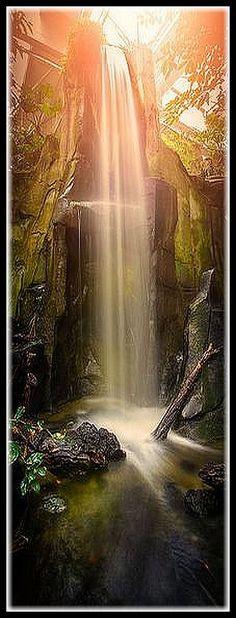 FRANCE Waterfall ♦♦♦ The Amazonian cascade of Montpellier ( La cascade amazonienne de Montpellier ) #by Lyp .Kévin Lyp-stenger #sunset sun sunlight sunrise reflection water waterfall nature landscape amazing rock cliffs rocks