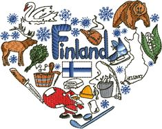 Embroidery Alphabet, Embroidery Patterns, Cross Stitch Patterns, Machine Embroidery, Finland Culture, Learn Finnish, Lapland Finland, Scrapbook, Helsinki