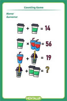 Just click on the pin and find more math printables to boost your skills!🥳 8th Grade Math Games, Counting Games, Brain Training Games, Brain Activities, Educational Games, Algebra, Online Games, Fun Workouts, Worksheets