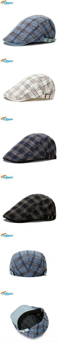 Fashion Newsboy Cap Cotton Hat for Men and Women Outdoor Visor Sunhat Gorras Planas Flat Cap Adjustable Beret Sboina Para Homens $12.99