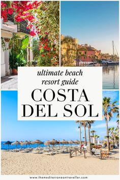 Heading to the Costa del Sol this year for some summer sun? Here's where to find the best beach resorts, nightlife, sandiest beaches, quiet parts, and the prettiest old towns. #spain #costadelsol #andalucia #europe #mediterranean #vacation #beach #tmtb Top Travel Destinations, Amazing Destinations, Spain Travel, Portugal Travel, Travel Europe, Travel Images, Travel Pics, Travel Ideas, Top Cities In Spain