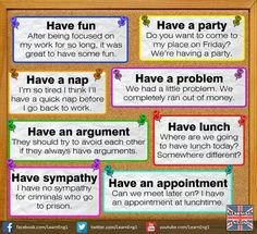 Collocations with have Repinned by Chesapeake College Adult Ed. We offer free classes on the Eastern Shore of MD to help you earn your GED - H.S. Diploma or Learn English (ESL). www.Chesapeake.edu
