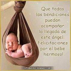 Imagenes con frases de felicidades por el bebe Baby Girl Quotes, Bible Encouragement, Happy Birthday Cards, New Baby Products, Congratulations, Baby Boy, Baby Shower, Boys, Doctors