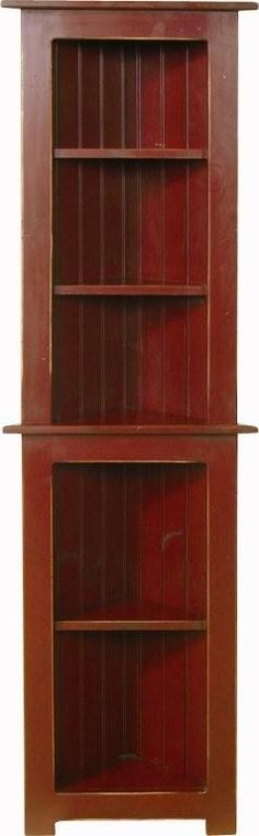 This Amish handcrafted Small Corner Hutch is made from affordable pine wood.