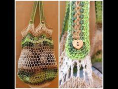 Jednoduchá sieťová nákupná taška, Perforated shopping bag crochet - YouTube Bag Crochet, Plant Hanger, Shopping Bag, Youtube, Bags, Handbags, Youtubers, Shopping Bags, Bag