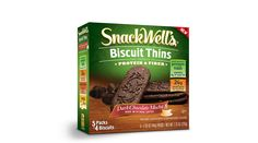 SnackWell's Dark Chocolate Mocha Biscuit Thin. 5 Packs of 4 Biscuits.