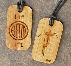 Love Bend Oregon Skiing Dog Tag by LoveWoodDrops on Etsy, $14.95