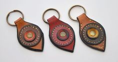 llavero 3 - key ring fob in leather