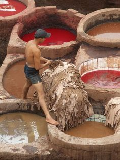 Fes, Morocco- Tannery. This is like, the most ancient mode of tanning hides