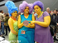 Marge, Patty y Selma Creative Costumes, Cool Costumes, Cosplay Costumes, Halloween Cosplay, Halloween Party, Halloween Costumes, Halloween 2014, Amazing Cosplay, Best Cosplay