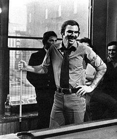 Burt Reynolds playing pool