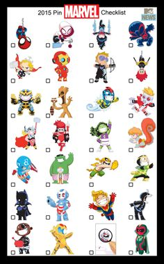 Skottie Young's Artwork Comes to Life for Exclusive SDCC Pins! Available only at the Marvel Booth (Booth New York, NY—June As if you needed yet another reason to head to the bigg… Baby Marvel, Chibi Marvel, Marvel Art, Marvel Avengers, Disney Pin Collections, Midtown Comics, Young Art, Skottie Young, Marvel Entertainment