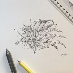 The reception to Mewtwo few days ago was intense! My email was fired with tons of requests to do more Pokemon! The Geometric Beasts series will stil. Pokemon Tattoo, Pokemon Fan Art, Pokemon Sketch, Geometric Drawing, Geometric Art, Ninetales Pokemon, Deviantart Drawings, Traditional Rose Tattoos, Rose Tattoos For Men