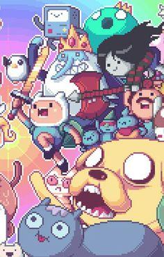 Pixel adventure time Finn and Jake Adventure Time Marceline, Adventure Time Finn, Cartoon Shows, Cartoon Art, Cartoon Illustrations, Adventure Time Personajes, Fan Art, Abenteuerzeit Mit Finn Und Jake, Adventure Time Tattoo