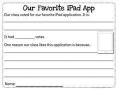 iPad Literacy Creative Writing Activity {Primary Grades} priced