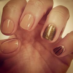 nude + gold