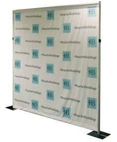 Bouche Weddings dye sublimated fabric backdrop