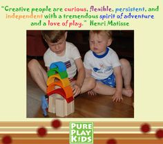 Want Creative Kids?  Then give them LOTS of unplugged PLAY with traditional, open-ended toys.  We have a great selection of unique, creative, American-made and organic toys on Pure Play Kids!