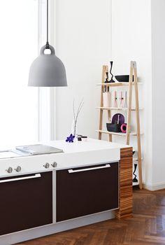 Normann Copenhagen - Bell Lamp (grey) One Step Up Shelf