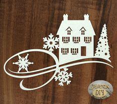 "Laser Cut Chipboard Flourish ""Christmas fantasy"" [1] by SiberianDIYcraftsArt on Etsy"