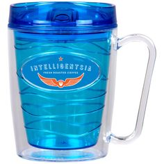This16 oz Perk Coffee Mug has some summertime possibilities. Iced or hot coffee will taste great in this super cool mug