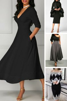 elegant black dresses for fall
