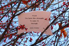"""Trust Your Strength"" Inspirational Words Nature Art Gift Thin Tattoo, Milk And Honey Quotes, Inspirational Poems, True Love Quotes, Love Wallpaper, Make It Through, Powerful Words, Words Of Encouragement, Trust Yourself"