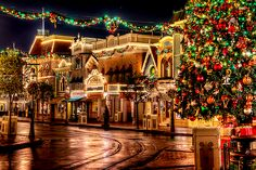 Main Street U.S.A., Disneyland, at Christmas time. :)