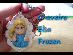 Chaveiro Elsa Frozen #CanalAuladeBiscuit