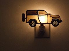 Items similar to Sport Utility Vehicle Night Light - Off The Road Vehicle Stained Glass Night Light - Urban Drive Vehicle Opal Glass Night Light on Etsy Stained Glass Night Lights, Diy Crafts For Gifts, Antique Glass, Craft Stores, Glass Art, Wall Lights, Urban, Luxury, Antiques